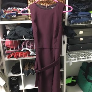White House Black Market plum dress